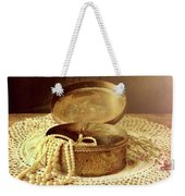 Open Jewelry Box With Pearls Weekender Tote Bag