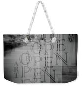 Open Sign Quadruple Multiple Exposure Holga Photography Weekender Tote Bag