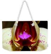 Open Wide - Orchid Macro Weekender Tote Bag