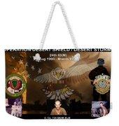 Operation Desert Shield/storm Weekender Tote Bag