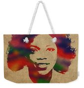 Oprah Winfrey Vintage 1978 Watercolor Portrait Weekender Tote Bag