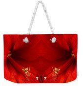 Orange Amaryllis Hippeastrum Close-up Double Weekender Tote Bag