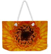 Orange And Black Gerber Center Weekender Tote Bag