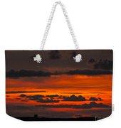 Orange And Black Weekender Tote Bag