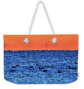 Orange And Blue Morning 4  Weekender Tote Bag