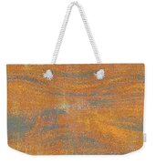 Orange And Gray Abstract Weekender Tote Bag