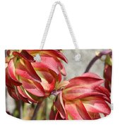 Orange And Light Green Flowers Weekender Tote Bag
