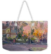 Orange And Pink Sunset Weekender Tote Bag