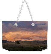 Orange And Purple Cloud Landscape Weekender Tote Bag