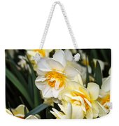 Orange And Yellow Double Daffodil Weekender Tote Bag