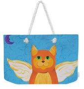 Orange Angel Cat Weekender Tote Bag