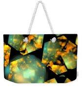 Orange Aqua Honeycomb Weekender Tote Bag