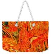 Orange Art Weekender Tote Bag by Colette V Hera Guggenheim