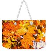 Fall Of Orange Leaves Weekender Tote Bag