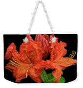 Orange Azalea Weekender Tote Bag