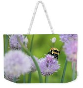 Orange-belted Bumblebee On Chive Blossoms Weekender Tote Bag