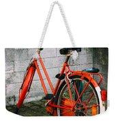 Orange Bicycle In The Street Weekender Tote Bag