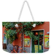 Orange Bicycle Wine Shop Monterosso Italy Dsc02584 Square Weekender Tote Bag