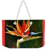 Orange Bird Of Paradise Weekender Tote Bag