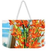 Orange Bloom Weekender Tote Bag