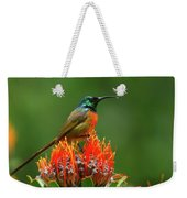 Orange-breasted Sunbird On Protea Blossom Weekender Tote Bag