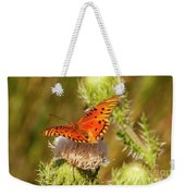 Orange Butterfly Weekender Tote Bag