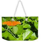 Orange Butterfly On Foliage Weekender Tote Bag