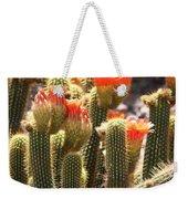 Orange Cactus Blooms Weekender Tote Bag
