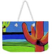 Orange Cactus By Nixo Weekender Tote Bag