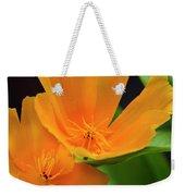 Orange California Poppies Weekender Tote Bag