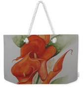 Orange Callas Weekender Tote Bag