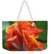 Orange Canna Art Weekender Tote Bag