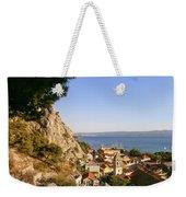 Orange Coastal Sunset Weekender Tote Bag