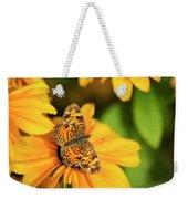 Orange Crescent Butterfly Weekender Tote Bag