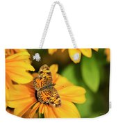 Orange Crescent Butterfly Weekender Tote Bag