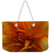 Orange Dahlia Weekender Tote Bag