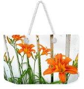 Orange Daylily At Colonial Williamsburg Weekender Tote Bag