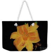 Orange Daylily Flower Blossom In A Garden Weekender Tote Bag
