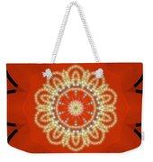 Orange Desert Flower Kaleidoscope Weekender Tote Bag