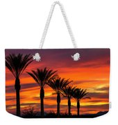 Orange Dream Palm Sunset  Weekender Tote Bag