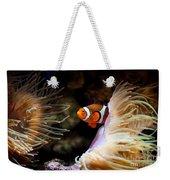 Orange Fish In Sea Anemones Weekender Tote Bag