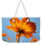 Orange Floral Summer Flower Art Print Daisy Type Blue Sky Baslee Troutman Weekender Tote Bag