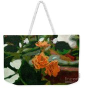 Orange Flower Abstract Weekender Tote Bag