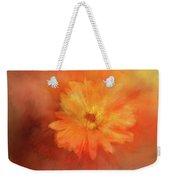 Orange Flower Energy Weekender Tote Bag