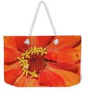 Orange Flower Macro Weekender Tote Bag