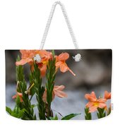 Orange Flower Weekender Tote Bag