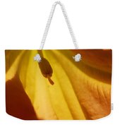 Orange Flower Stamen Weekender Tote Bag