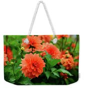 Orange Flowers Weekender Tote Bag