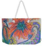 Orange Flowers Weekender Tote Bag