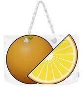 Orange Fruit Outlined Weekender Tote Bag
